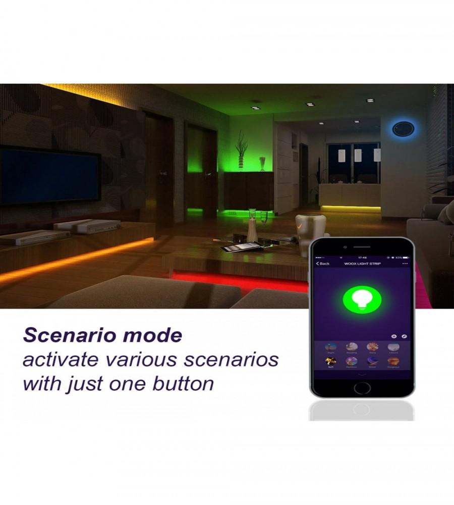 TIRA DE LED INTELIGENTE RGB + BLANCO 5m WOOX R5093